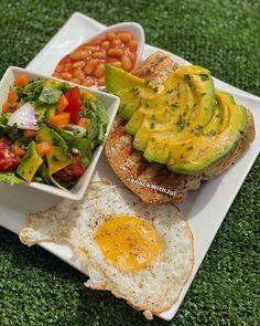 "snackWithJul on Instagram: ""#avocado everything 😀🤤 - #snackie #snackgram #breakfastgram #itzJulicious #yellow #eggs"" Jollof Rice, Avocado Toast, Eggs, Snacks, Yellow, Breakfast, Instagram, Food, Morning Coffee"