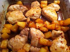 Pineapple Chicken - This is a delicious easy recipe and only 5WW points (old). Completely hubby approved and uses minimal ingredients lying around the pantry. Serve with rice and vegetables or a nice salad.