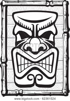 Find Vintage Clip Art - Tiki Bar - Vector Stock Images in HD and millions of other royalty-free stock photos, illustrations, and vectors in the Shutterstock collection. Tiki Maske, Tiki Faces, Tiki Tattoo, Tiki Art, Tiki Tiki, Maori Patterns, Tiki Head, Tiki Statues, Tiki Totem