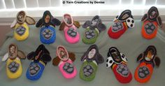 Please note that this pattern includes all 6 Paw Patrol Slipper designs. You need to know the Front and Back post double crochet for these slippers, they are quite easy to make and involve some sewing. Kids Slippers, Crochet Slippers, Learn To Crochet, Crochet For Kids, Paw Patrol Hat, Paw Patrol Christmas, Back Post Double Crochet, Garter Stitch, Digital Pattern