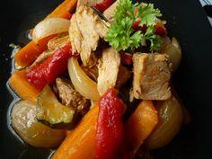 Riperuokaa lapapaistista Pork, Ethnic Recipes, Sweet, Kale Stir Fry, Candy, Pork Chops