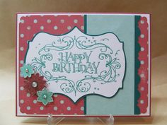 cricut+birthday+card+ideas | Happy Birthday Flourish Card