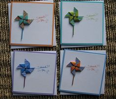 Cute Thank you cards with pin wheels