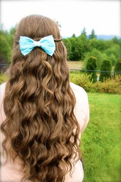Tiffany Blue Hair Bow by blueheartcouture on Etsy, $5.00