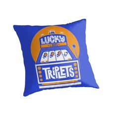 I am Lucky! I have Triplets!  by multiplesandmore Triplet Pillows