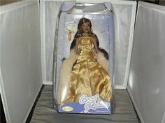 CRYSTAL RADIANCE PORCELAIN DOLL AMBER AFRO AMERICAN NEW