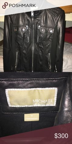 Michael Kors leather jacket. Size medium. Never been worn. Price is negotiable Michael Kors Jackets & Coats