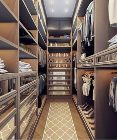 New Narrow Master Closet Cabinets Ideas Narrow Closet Design, Bedroom Closet Design, Master Bedroom Closet, Wardrobe Design, Closet Designs, Dressing Room Closet, Dressing Room Design, Dressing Rooms, Closet Vanity