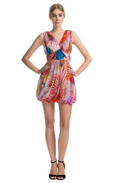 Orchid Silk Strap Dress by Matthew Williamson for Preorder on Moda Operandi