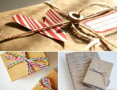 twine gift wrapping