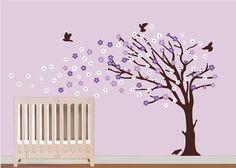 Girls Cherry Blossom TreeChildren Nursery Wall by NurseryWallArt, $79.99