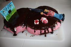 Laser shooting cake