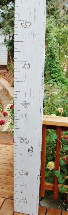 Gray Growth Chart Giant Ruler Children's by SilverRidgeWoodworks