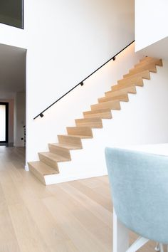 Basement stairs - There is no shortage of stairway design ideas to make your stairway a charming part of your home. House Staircase, Open Staircase, Staircase Remodel, Staircase Design, Staircase Ideas, Open Basement Stairs, Basement Ideas, Open Trap, Modern Stairs