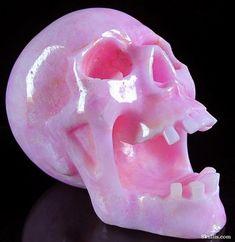 Pink Aragonite Crystal Skull