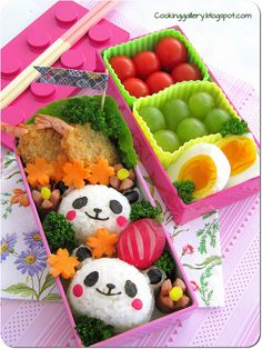 Panda Bento by Cooking-Gallery, via Flickr