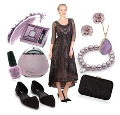 """""""Pink pearl"""" by wardrobeshop ❤ liked on Polyvore featuring Nly Shoes, Accessorize, Gioelli Designs, NARS Cosmetics, Helix & Felix, Davidoff, OPI, Bourjois and vintage"""