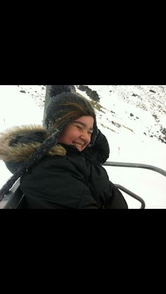 Brie in the chairlift