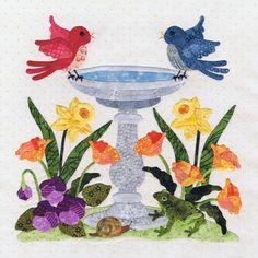 blk 4 Bird Bath, Pearl P. Pereira Designs