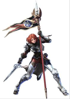 View an image titled 'Hilde Art' in our Soulcalibur V art gallery featuring official character designs, concept art, and promo pictures. Female Character Design, Character Concept, Character Art, Concept Art, Armor Concept, Character Ideas, 3d Fantasy, Fantasy Armor, Fantasy Races