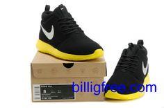 Verkaufen billig Schuhe Damen Nike Roshe Run (Farbe: vamp, innen - schwarz, logo - Silber; Sohle - gelb) Online in Deutschland.