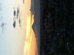 夕焼け富士山。