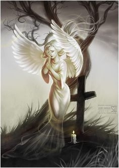 On the of November we celebrate All Saints Day. It's a day when people come to the graves of their intimates and light a candle for them. All Saints' Day Angel Images, Angel Pictures, Angels Among Us, Angels And Demons, Fallen Angels, Demon Manga, I Believe In Angels, Ange Demon, All Saints Day