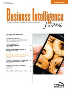 Business Intelligence Journal -- TDWI -The Data Warehousing Institute