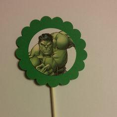 Cupcake Toppers de Hulk por StefsGirls en Etsy