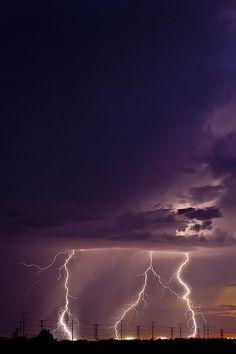 A thundering sunset in Buckeye