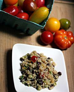 Black Bean/Heirloom Tomato Quinoa w/Lemon Dressing. Do I really have to wait till summer?