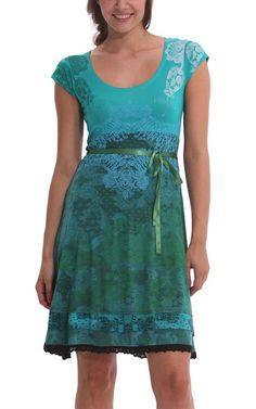 buyinvite.com.au - Paris Knitted Dress Short Sleeves Green