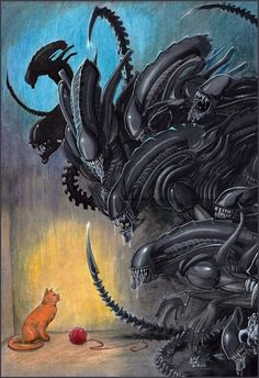 Xenomorph and cat