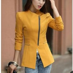 Blazer Super cute gold jacket!! NWT perfect fall color  just a bit small for me :( my loss your gain  Jackets & Coats Blazers