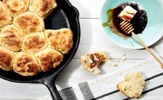 Cathead Biscuits With Honey Butter / Photo by Chelsea Kyle, Food Styling by Anna Stockwell