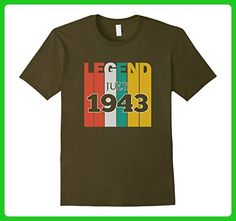 Mens Retro Vintage Legend July 1943 Birthday Gift tshirt 3XL Olive - Birthday shirts (*Amazon Partner-Link)