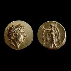 Gold stater in the name of Titus Quinctius Flamininus Probably Roman, around 197 BC Possibly from Macedonia Weight: 8.440 g Diameter: 18.000 mm CM 1954-10-9-1 (PCR 76) British museum
