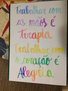 Lettering feito por mim com aquarela