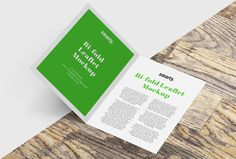 Bi fold leaflet mockup / Free edition