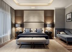 Modern Master Bedroom Ideas To Get The Japanese Modern Aesthetic In Your Bedroom . Summer Home Decor 2017 Master Bedroom And Summer Bucket . Hotel Room Design, Luxury Bedroom Design, Master Bedroom Interior, Bedroom Seating, Modern Master Bedroom, Master Bedroom Design, Home Interior, Home Decor Bedroom, Interior Design