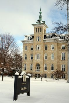 Old Main at North Central College. What a great college in Naperville, Illinois!