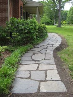 DIY Slate Path   55 Ingenious DIY Backyard Projects To Try This Spring