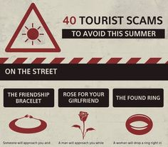 Infographic: Beware Of These 40 Common Travel Scams From Around The World - DesignTAXI.com