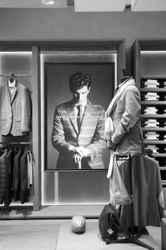 Visual Merchandising | Display | Menswear | Scabal flagship store Brussels.