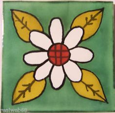 C284 Mexican Handmade Talavera Clay Tile Folk Art 4x4  Handpainted | eBay
