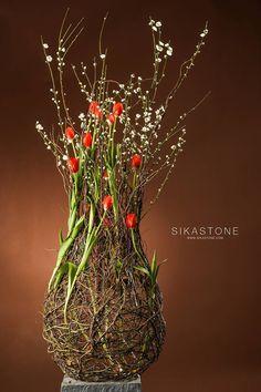 Modern Floral Arrangements, Flower Arrangements, Flower Boxes, Flower Crafts, Flower Decorations, Flower Designs, Paper Flowers, Floral Design, Arts And Crafts