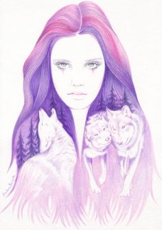 Wolf Spirit Art Print by Andrea Hrnjak | Society6