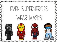 Even Superheroes Wear Masks Poster by Less Work More Play   TpT Counselor Bulletin Boards, Nurse Bulletin Board, Health Bulletin Boards, School Bulletin Boards, Health Activities, Teaching Activities, Preschool Learning, School Nurse Office, School Nursing