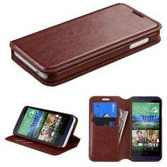 MYBAT HTC Desire 510 Case Flip Stand Leather Wallet - Brown