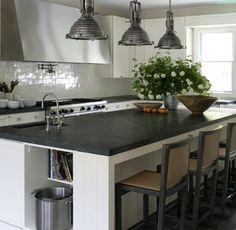 love the gray countertops
